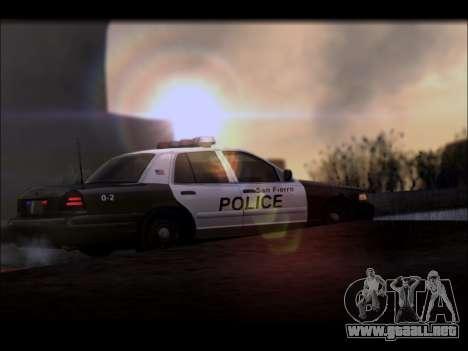 Ford Crown Victoria 2005 Police para GTA San Andreas vista hacia atrás