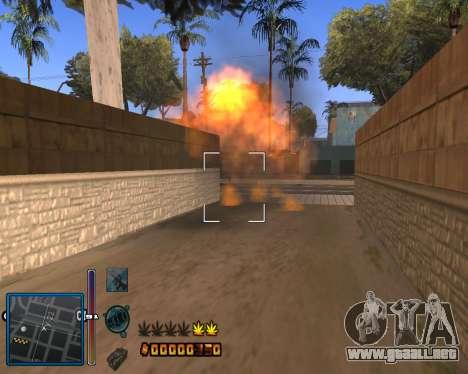 C-HUD by Mike Renaissance para GTA San Andreas tercera pantalla
