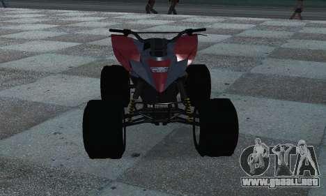 GTA 5 Blazer ATV para GTA San Andreas vista hacia atrás
