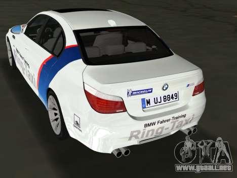 BMW M5 (E60) 2009 Nurburgring Ring Taxi para GTA Vice City left