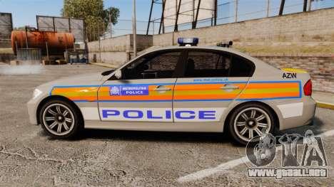 BMW 330 Metropolitan Police [ELS] para GTA 4 left