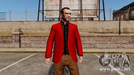 Chaqueta roja para GTA 4