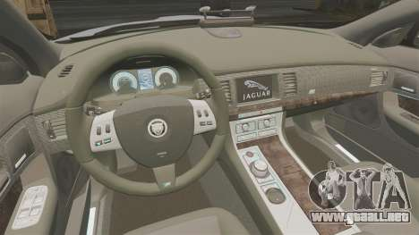 Jaguar XFR 2010 Police Unmarked [ELS] para GTA 4 vista interior