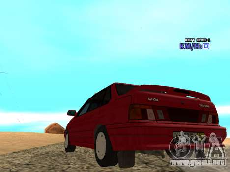 VAZ 2115 Taxi para GTA San Andreas vista posterior izquierda