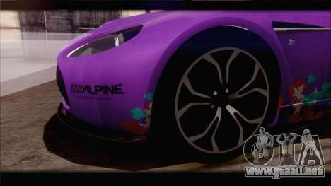 Aston Martin V12 Zagato 2012 [IVF] para GTA San Andreas interior