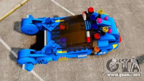 Lego Car Blade Runner Spinner [ELS] para GTA 4 visión correcta