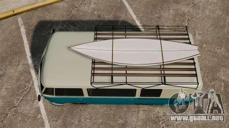 GTA V BF Surfer Burgerfahrzeug para GTA 4 visión correcta