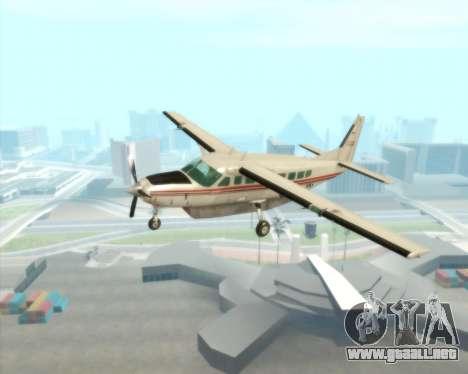 Cessna 208B Grand Caravan para visión interna GTA San Andreas