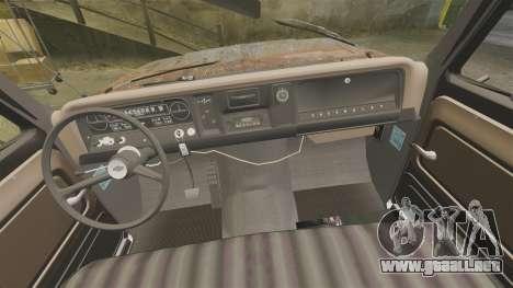 Chevrolet Tow truck rusty Stock para GTA 4 vista hacia atrás