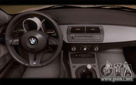BMW Z4 Stance para la visión correcta GTA San Andreas