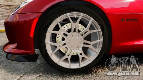 Dodge Viper SRT TA 2014 Rebuild para GTA 4 vista hacia atrás