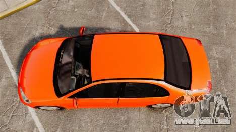 Honda Civic VTEC para GTA 4 visión correcta
