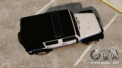 Jeep Wrangler Rubicon Police 2013 [ELS] para GTA 4 visión correcta