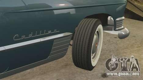 Cadillac Series 62 1949 para GTA 4 vista desde abajo