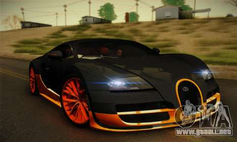 Bugatti Veyron Super Sport World Record Edition para GTA San Andreas left