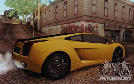 Lamborghini Gallardo SE para GTA San Andreas left