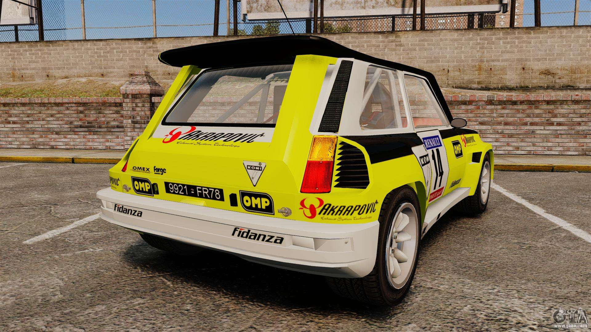 renault 5 turbo maxi para gta 4. Black Bedroom Furniture Sets. Home Design Ideas