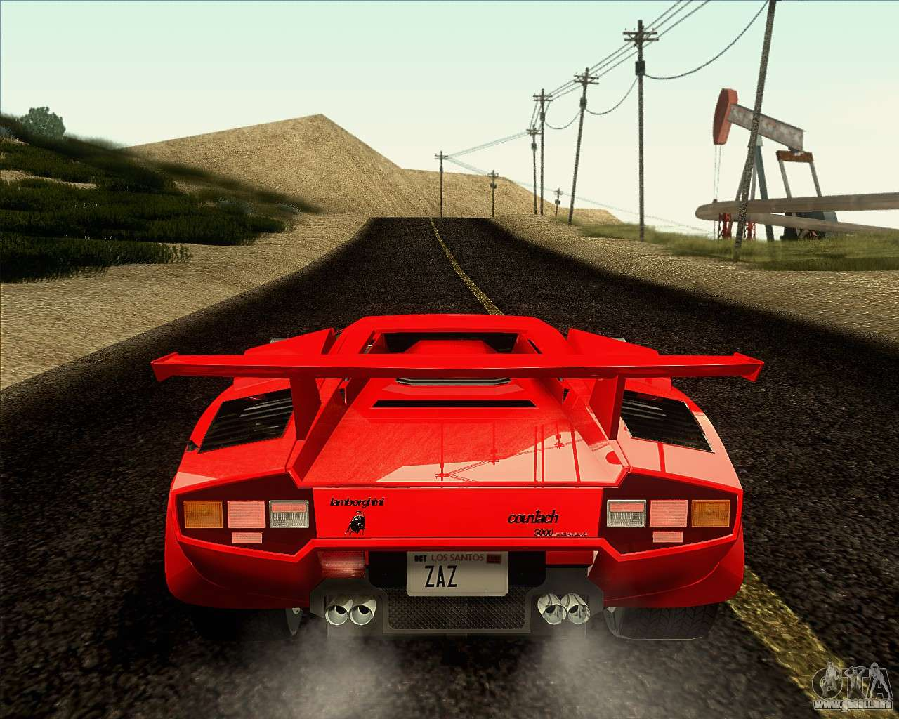 lamborghini countach lp500 quattrovalvole 1988 para gta san andreas. Black Bedroom Furniture Sets. Home Design Ideas