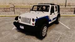 Jeep Wrangler Rubicon Police 2013 [ELS] para GTA 4