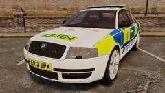 Skoda Superb 2006 Police [ELS] Whelen Justice para GTA 4