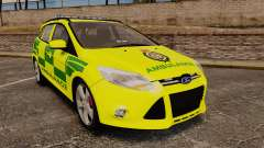 Ford Focus ST Estate 2012 [ELS] London Ambulance para GTA 4