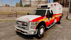 Ford F-350 2013 FDNY Ambulance [ELS] para GTA 4