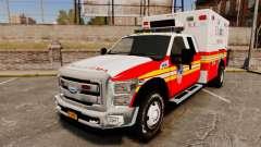 Ford F-350 2013 FDNY Ambulance [ELS] para GTA 4