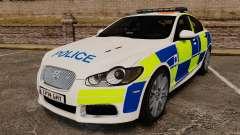 Jaguar XFR 2010 British Police [ELS]