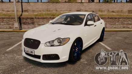 Jaguar XFR 2010 Police Unmarked [ELS] para GTA 4