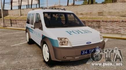 Ford Transit Connect Turkish Police [ELS] para GTA 4