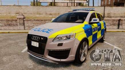 Audi Q7 Metropolitan Police [ELS] para GTA 4