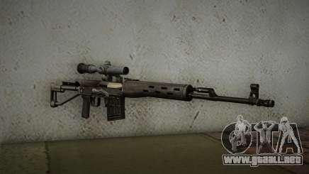 rifle de francotirador de 7.62 Dragunov SVD-s para GTA San Andreas