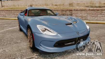 Dodge Viper SRT TA 2014 Rebuild para GTA 4