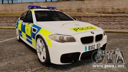 BMW M5 Marked Police [ELS] para GTA 4