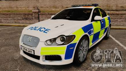Jaguar XFR 2010 British Police [ELS] para GTA 4