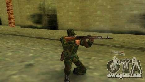 La forma de la RF de las fuerzas armadas para GTA Vice City segunda pantalla