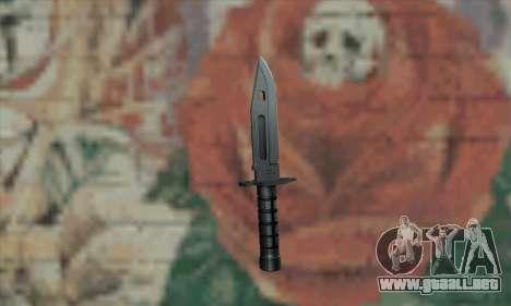 M9 Knife para GTA San Andreas segunda pantalla