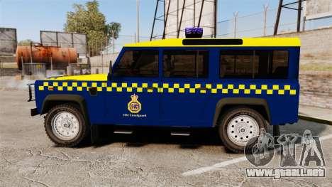 Land Rover Defender HM Coastguard [ELS] para GTA 4 left
