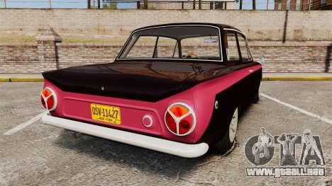 Lotus Cortina 1963 para GTA 4 Vista posterior izquierda