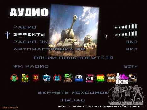 Menú de World of Tanks para GTA San Andreas sexta pantalla