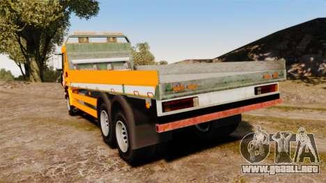 Iveco Stralis RAC para GTA 4 Vista posterior izquierda
