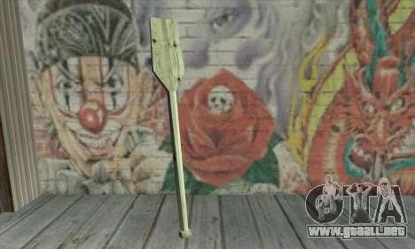 The wooden paddle para GTA San Andreas