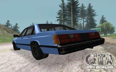 Premier VC para GTA San Andreas vista posterior izquierda