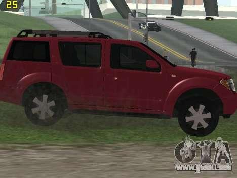 Nissan Pathfinder para GTA San Andreas vista hacia atrás