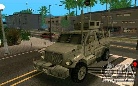 MRAP Mèxico Marina para GTA San Andreas left