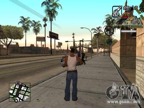 C-Hud Army by Enrique Rueda para GTA San Andreas tercera pantalla