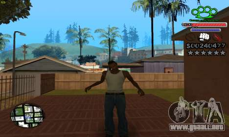 C-HUD Gangster by NickQuest para GTA San Andreas tercera pantalla