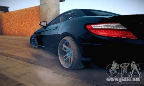 Mercedes Benz SLK55 AMG 2011 para vista lateral GTA San Andreas