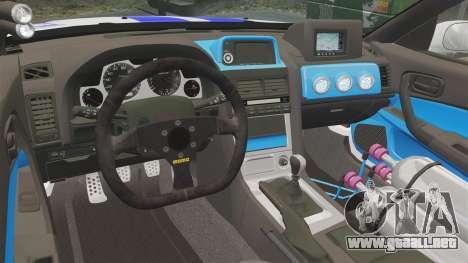 Nissan Skyline GT-R R34 V-Spec 1999 para GTA 4 vista interior