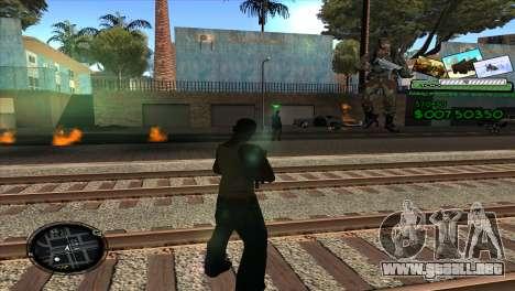 C-HUD Army para GTA San Andreas tercera pantalla